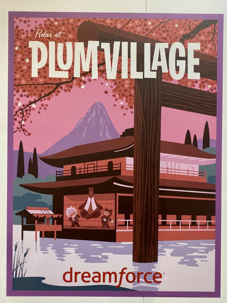 Plum Village sign at Dreamforce.