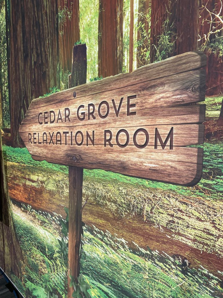 Cedar Grove Relaxation Room.